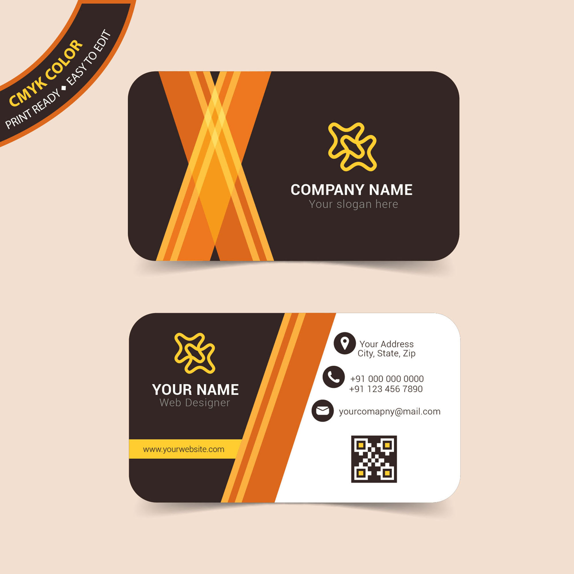 Professional Business Card Free Download Wisxicom - Professional business card design templates