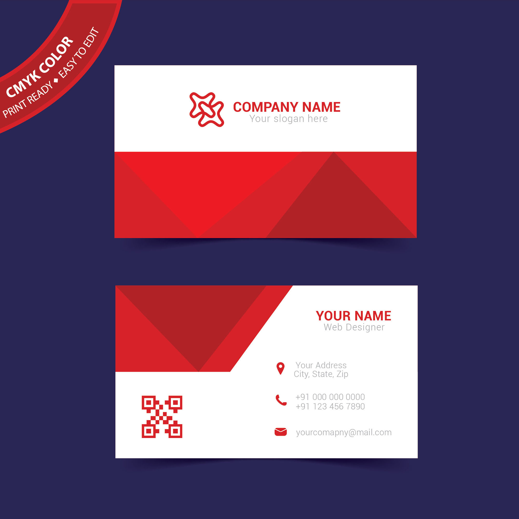Business Card Print Template Free Download Wisxicom - Free business card layout template