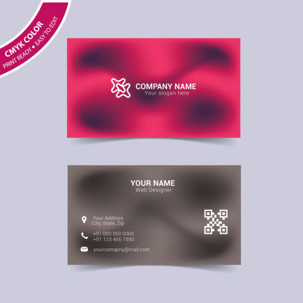 Modern abstract business card