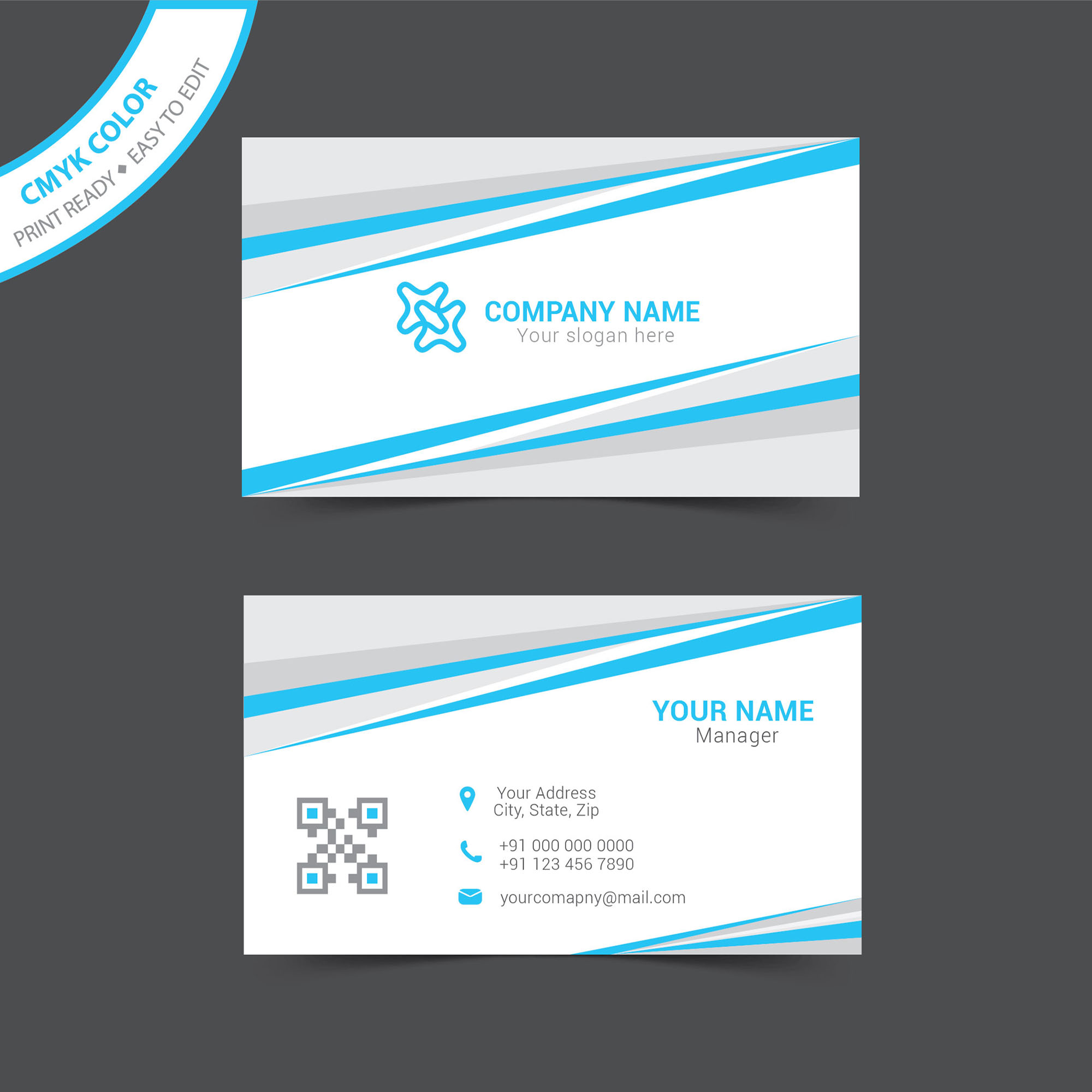 Simple business card template free download - Wisxi.com