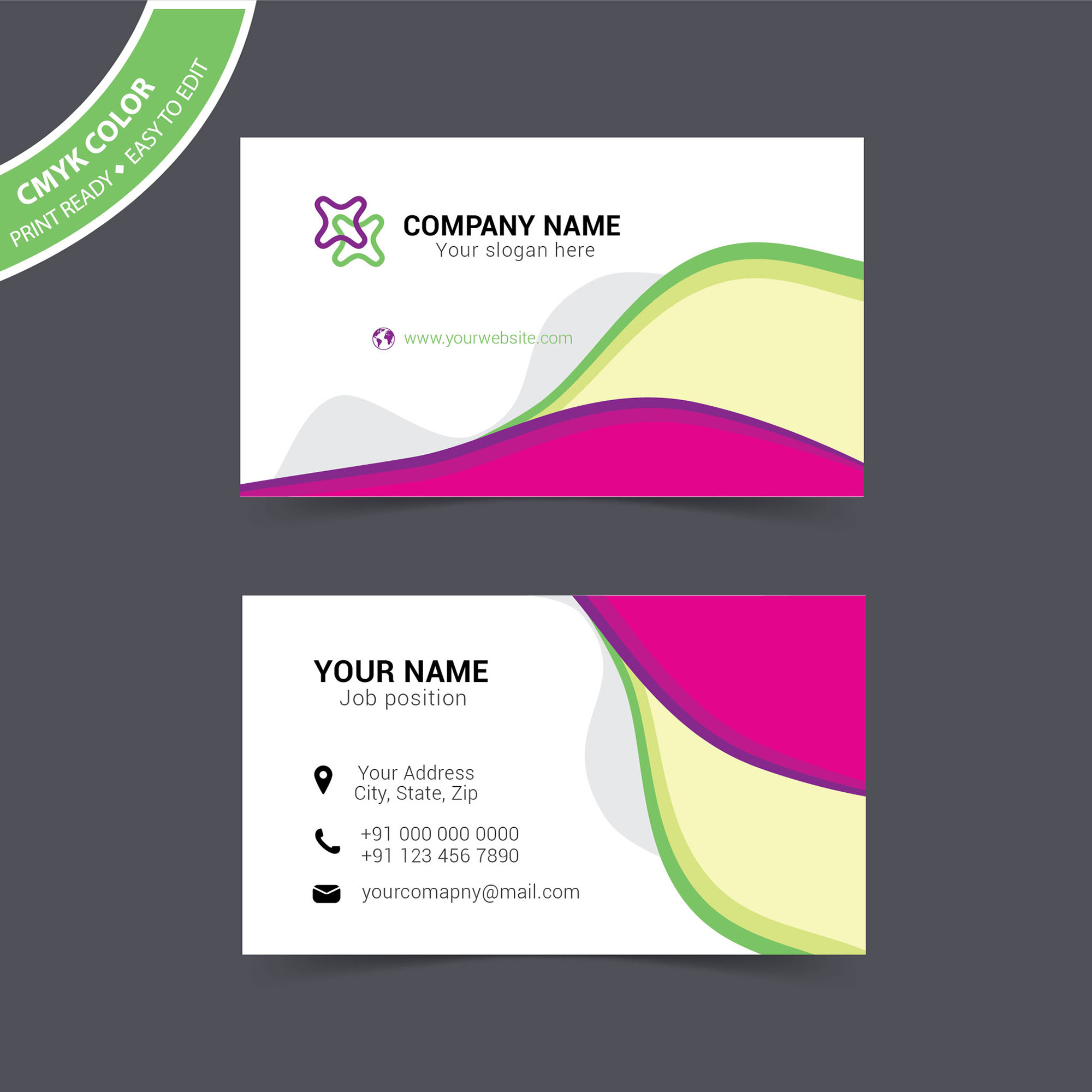 Visiting Card Design Sample Free Download Wisxicom - Free business card layout template