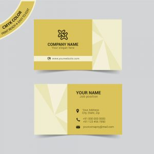 Creative vector business card template