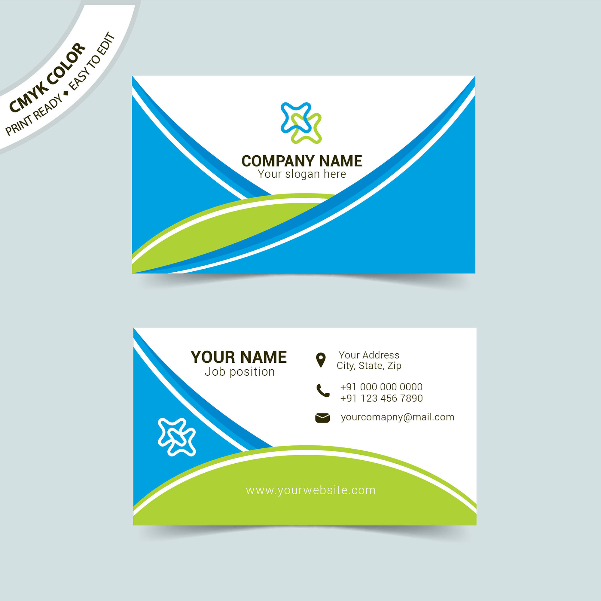 Creative Business Card Vector Template Free Download - Wisxi.com