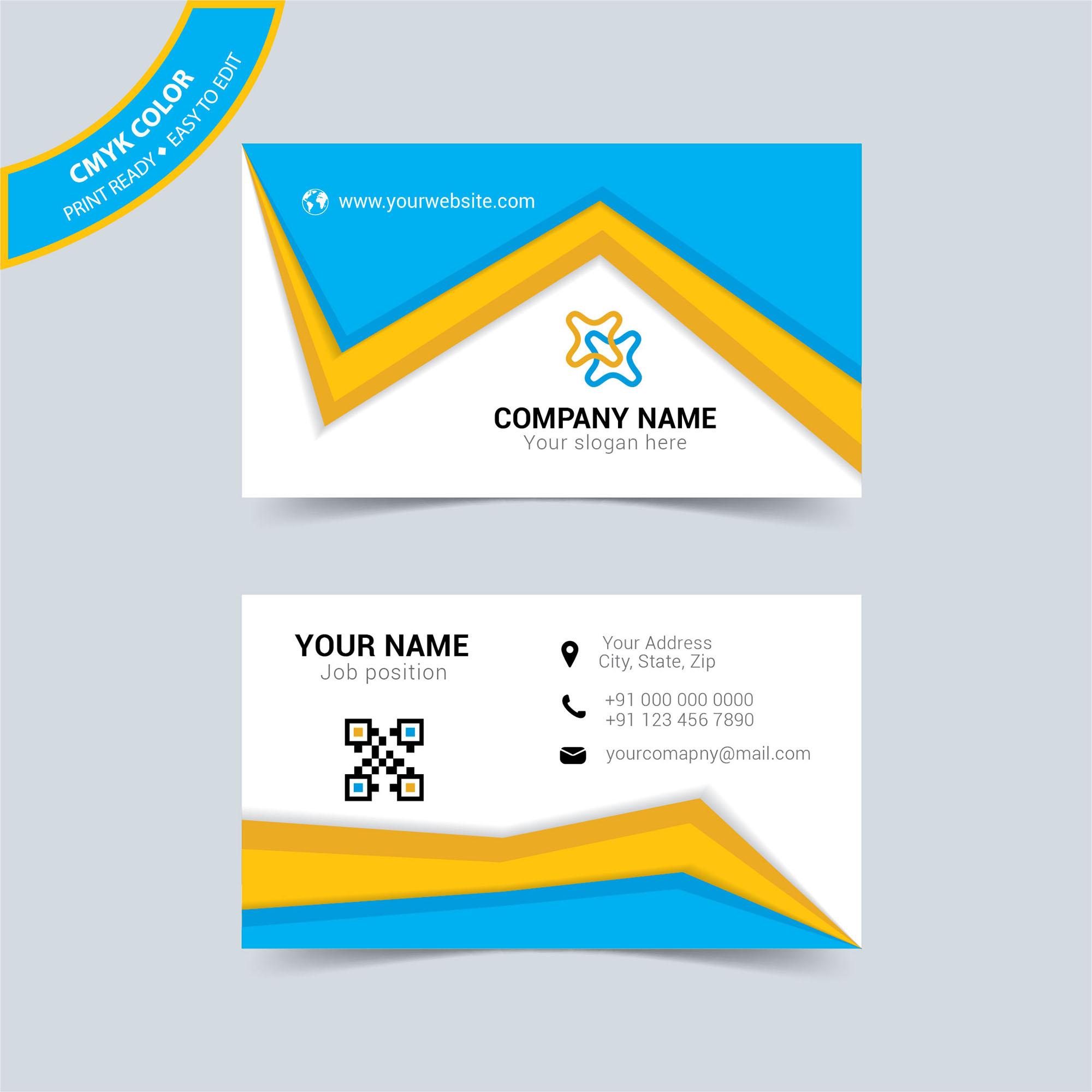Creative corporate business card template free download wisxi business card business cards business card design business card template design templates reheart Image collections