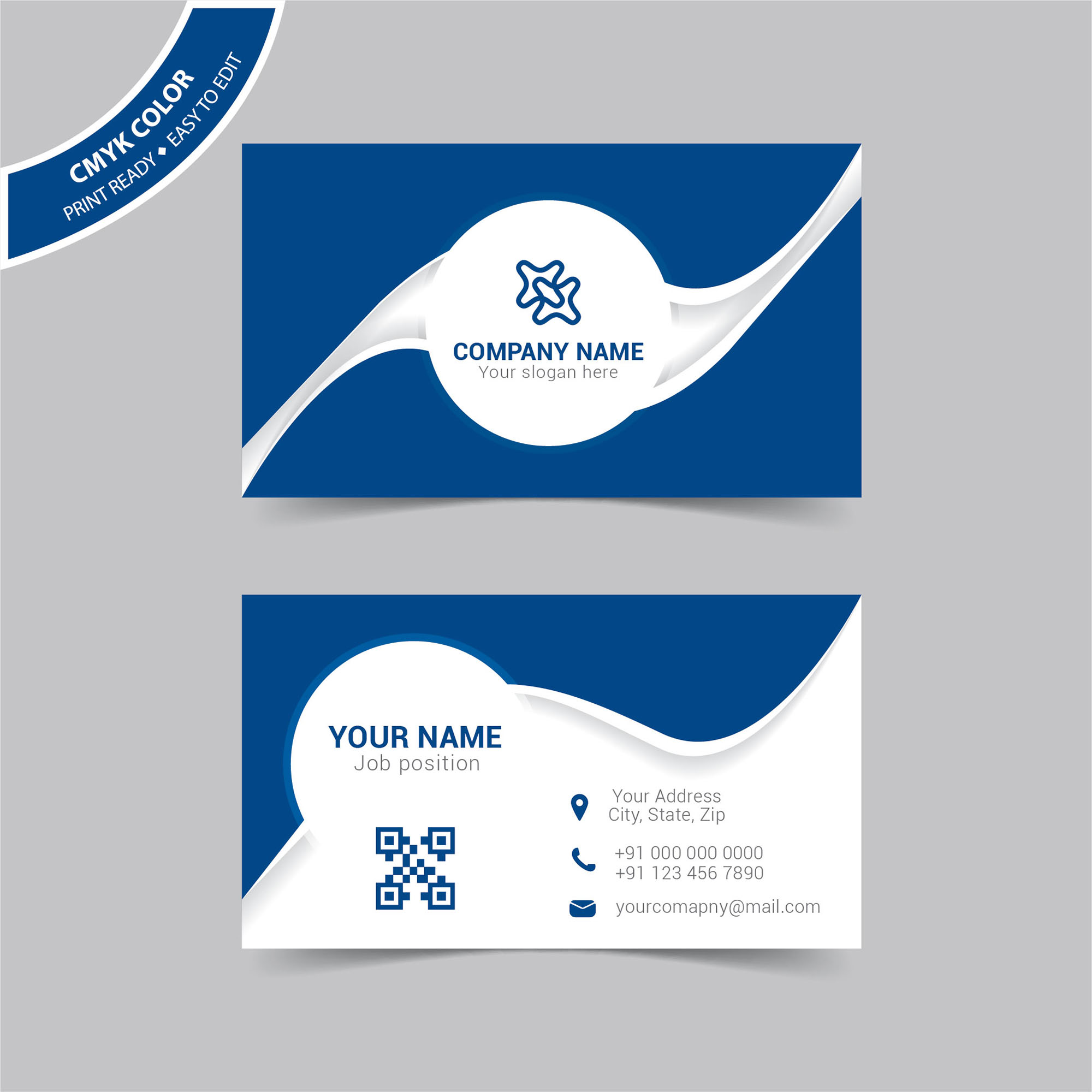 Blue modern business card template free download wisxi business card business cards business card design business card template design templates fbccfo Image collections