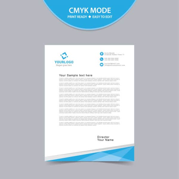 Abstract corporate letterhead design