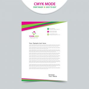 Abstract modern letterhead design