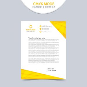 Professional business letterhead design