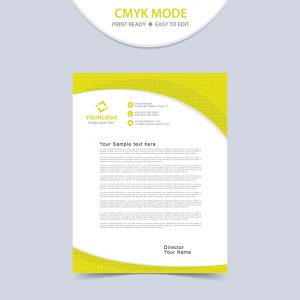 Custom business letterhead template