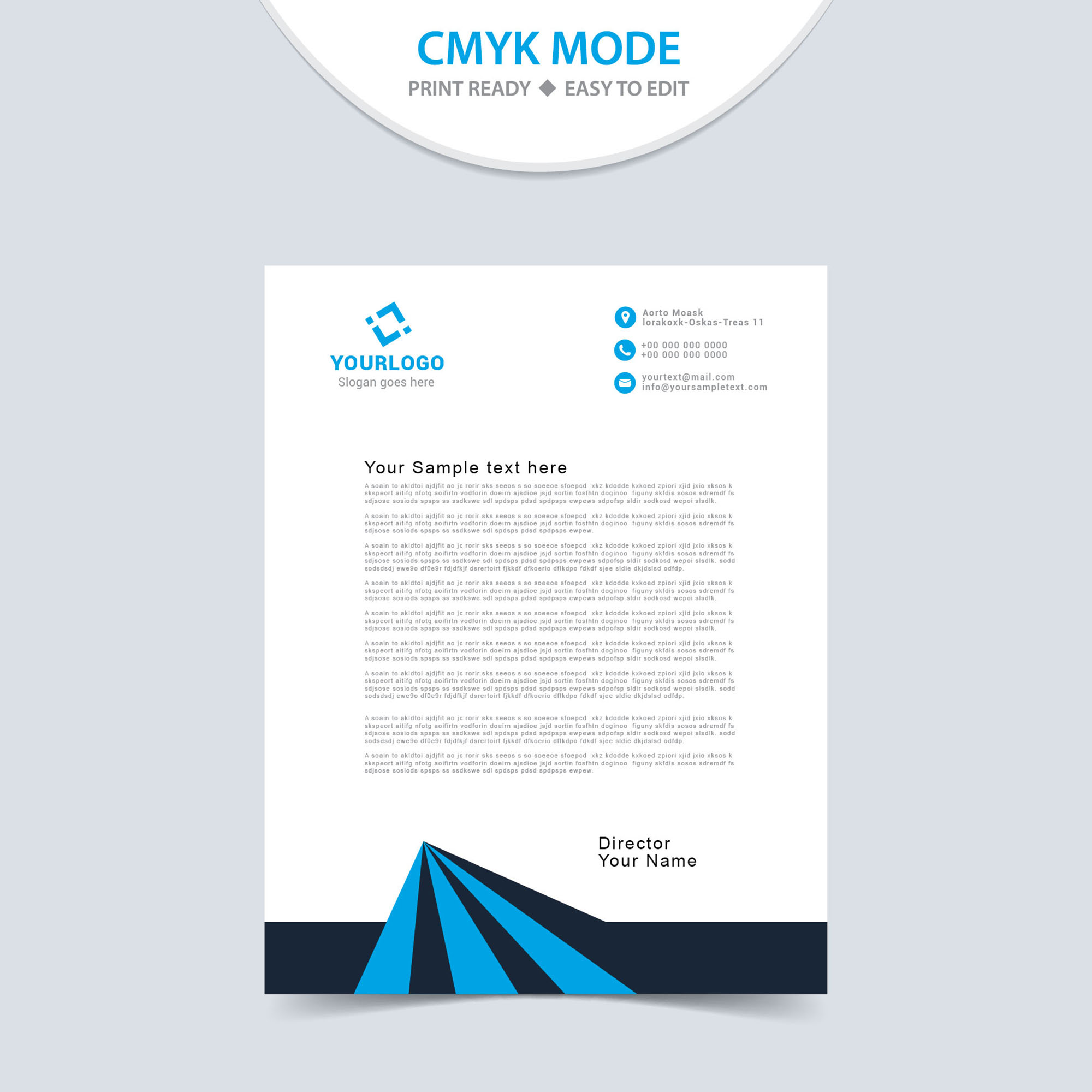 Letterheads, Letterhead Design, Letterhead Template, Print Template,  Vector, Abstract, Business  Company Letterhead Samples Free Download