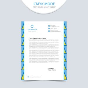 Creative corporate letterhead design
