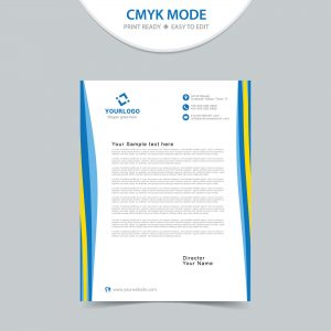 Creative business letterhead design