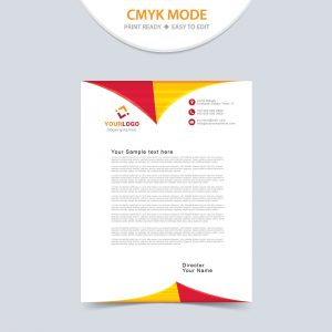 Professional corporate letterhead