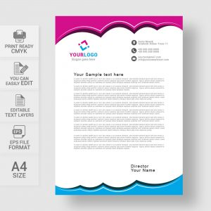 Editable corporate letterhead