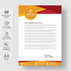 Abstract creative vector letterhead