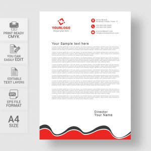 Corporate wavy style letterhead