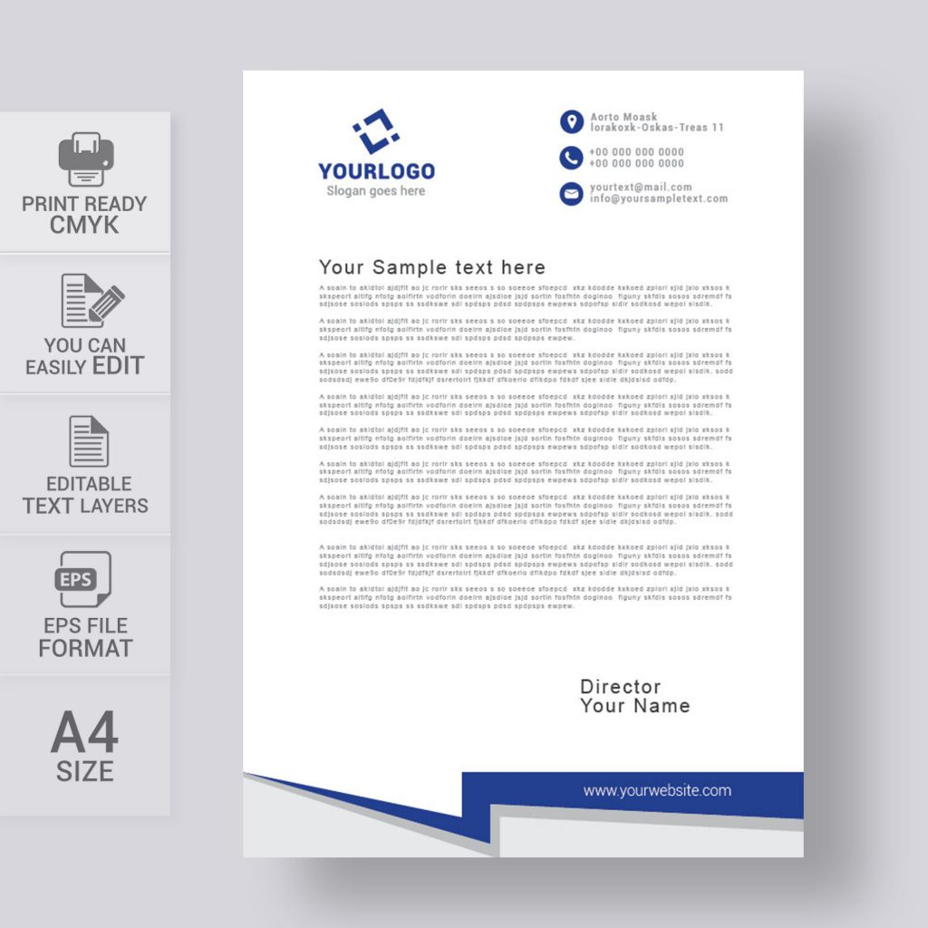 Simple letterhead template free download print ready wisxi letterheads letterhead design letterhead template print template vector abstract business accmission Choice Image
