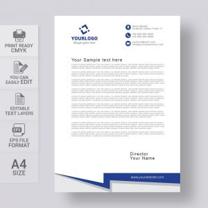 Simple letterhead template