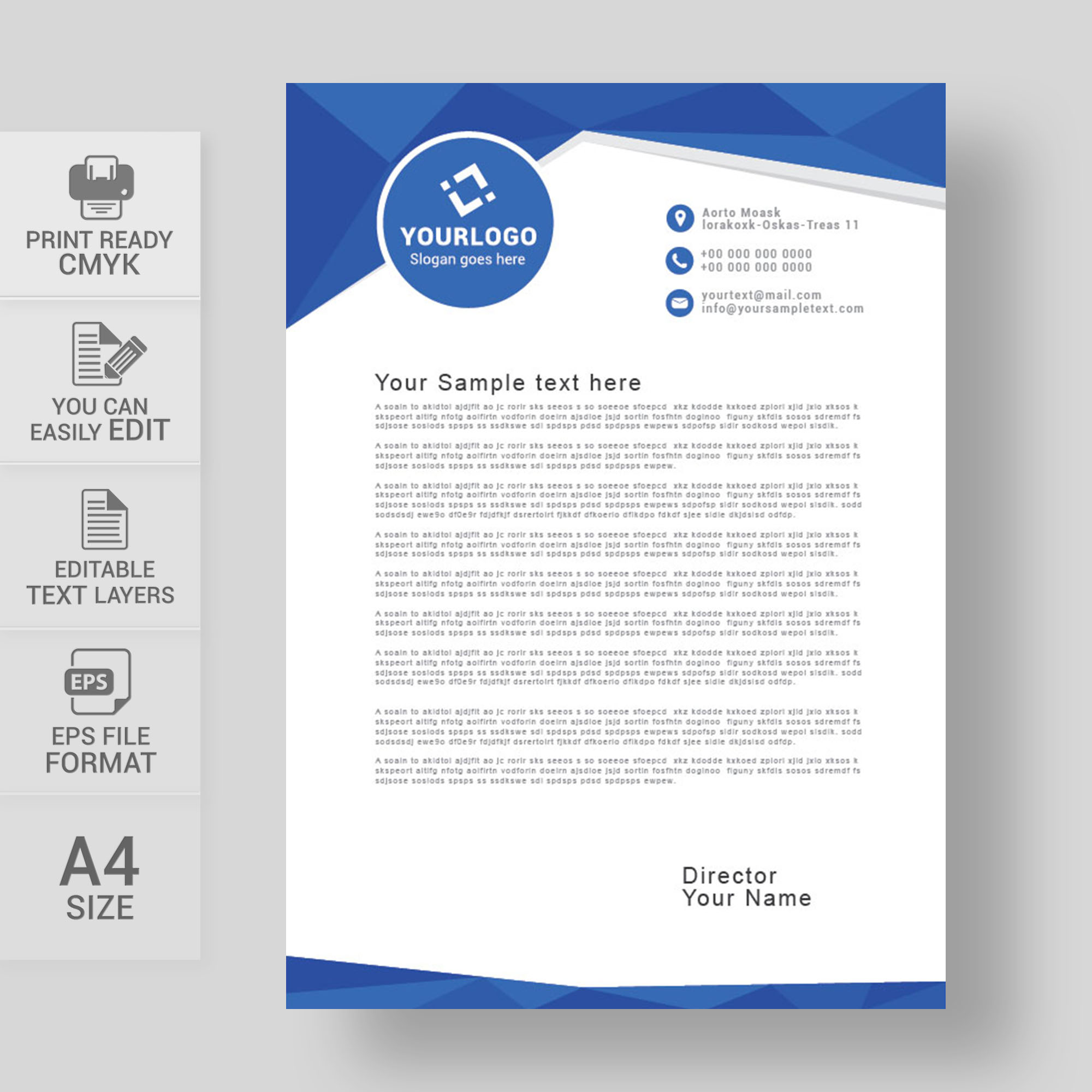 Abstract company letterhead design free download wisxi letterheads letterhead design letterhead template print template vector abstract business altavistaventures Gallery