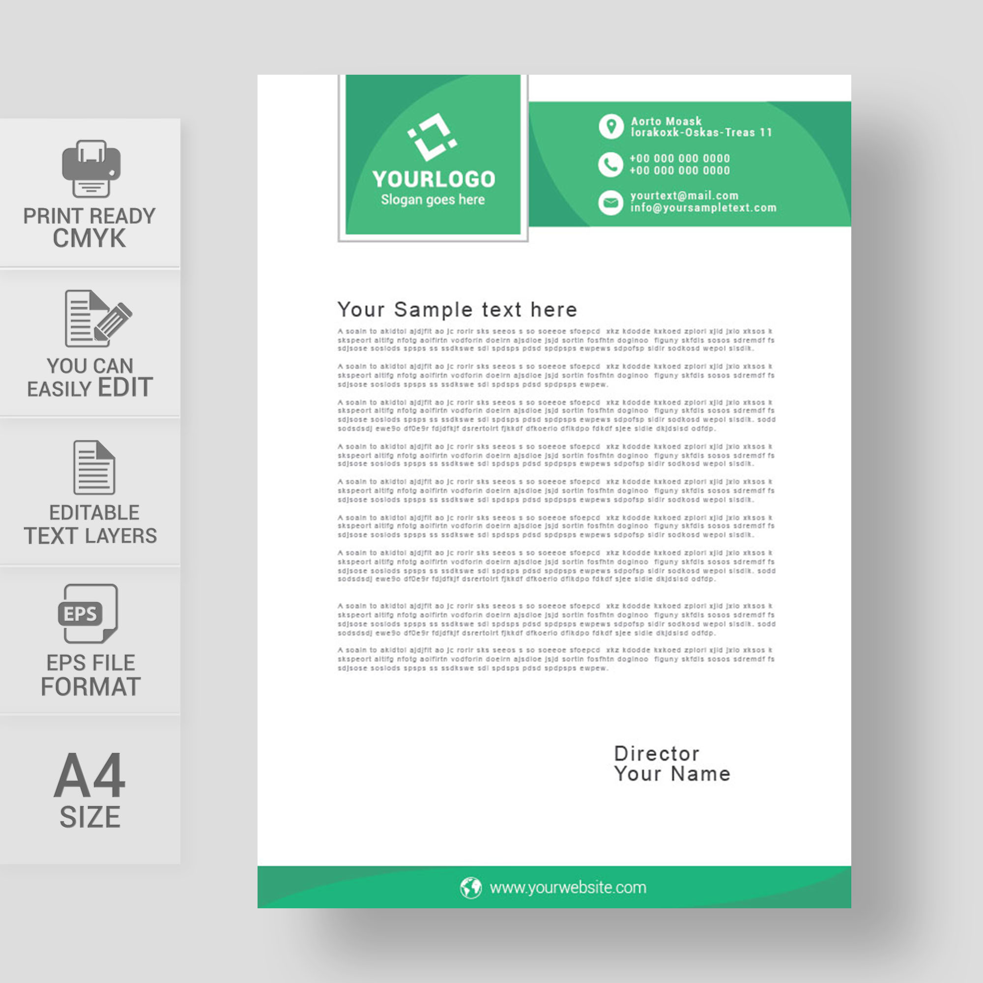 Professional Company Letterhead Template: Professional Creative Letterhead Template Free Download
