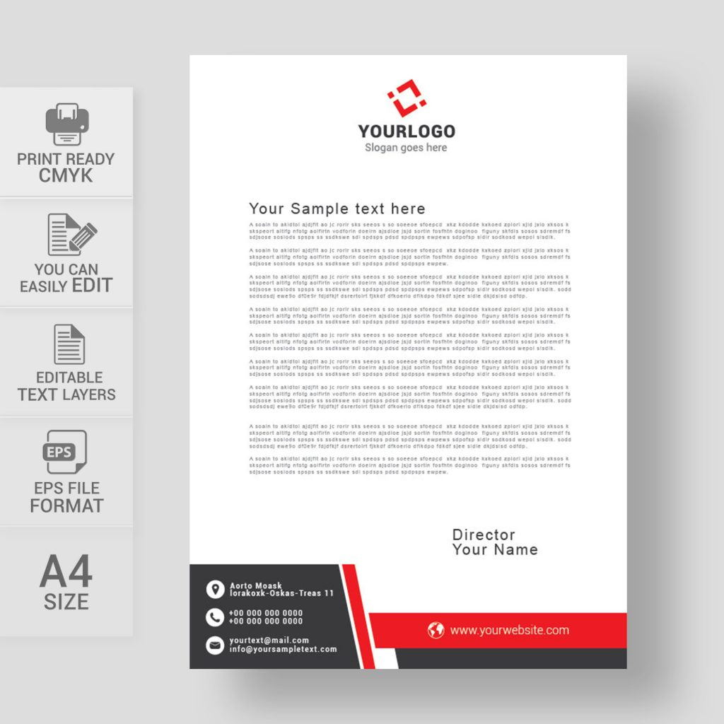 Corporate letterhead design eps free download wisxi letterheads letterhead design letterhead template print template vector abstract business friedricerecipe Choice Image