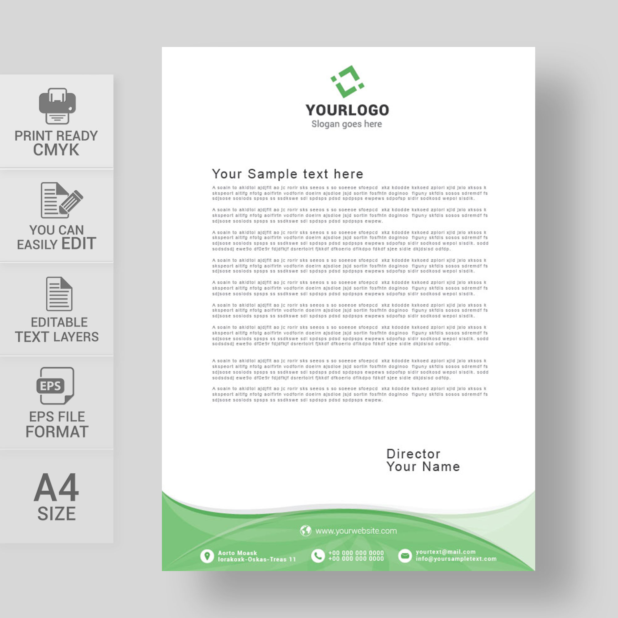 Letterhead vector template free download print ready wisxi letterheads letterhead design letterhead template print template vector abstract business accmission