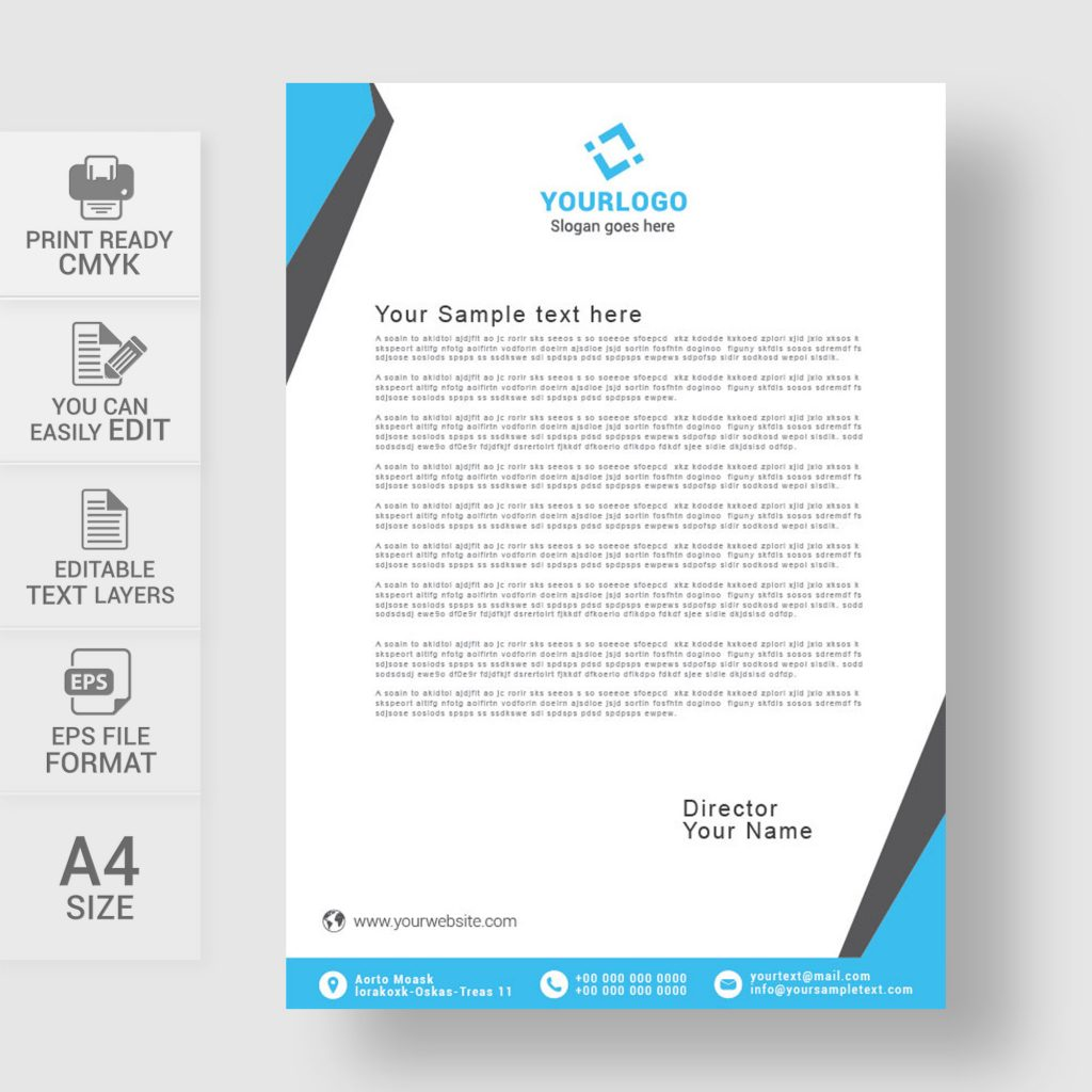 Free Custom Letterhead: Letterhead Design Template Free Download