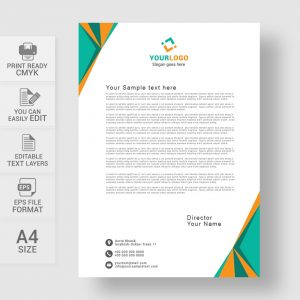 Free abstract letterhead