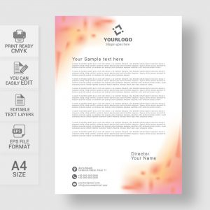 Colorful letterhead template