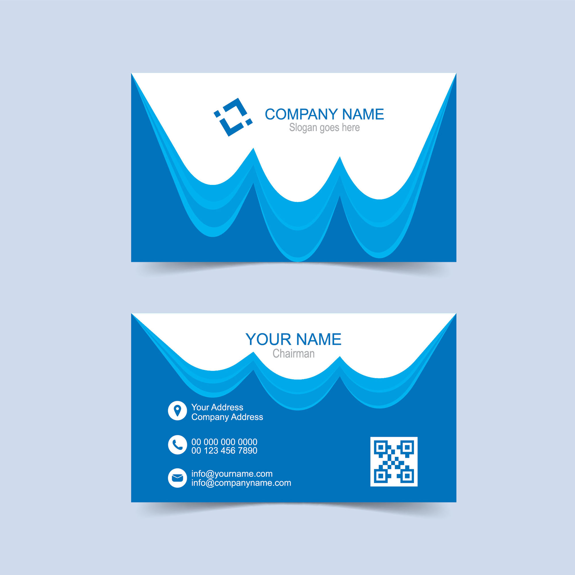 Corporate Business Card Free Download - Print Ready - Wisxi.com