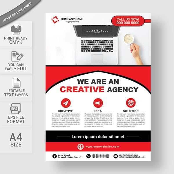 Business flyer vector