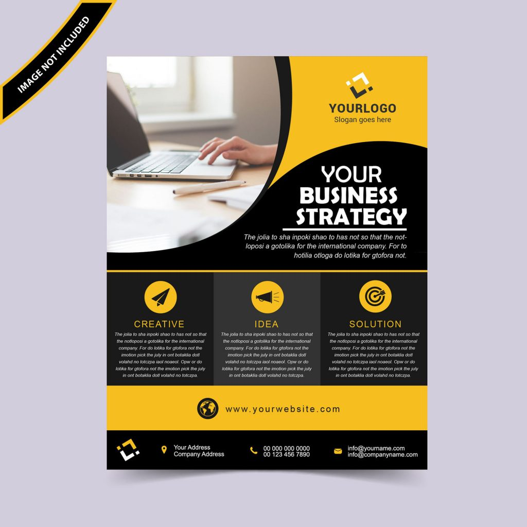 corporate business flyer template free download