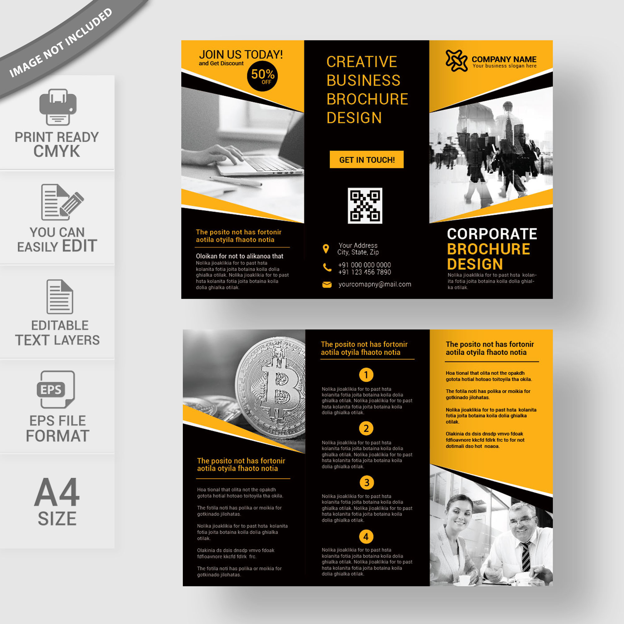 flyer brochure templates - business tri fold brochure template print ready