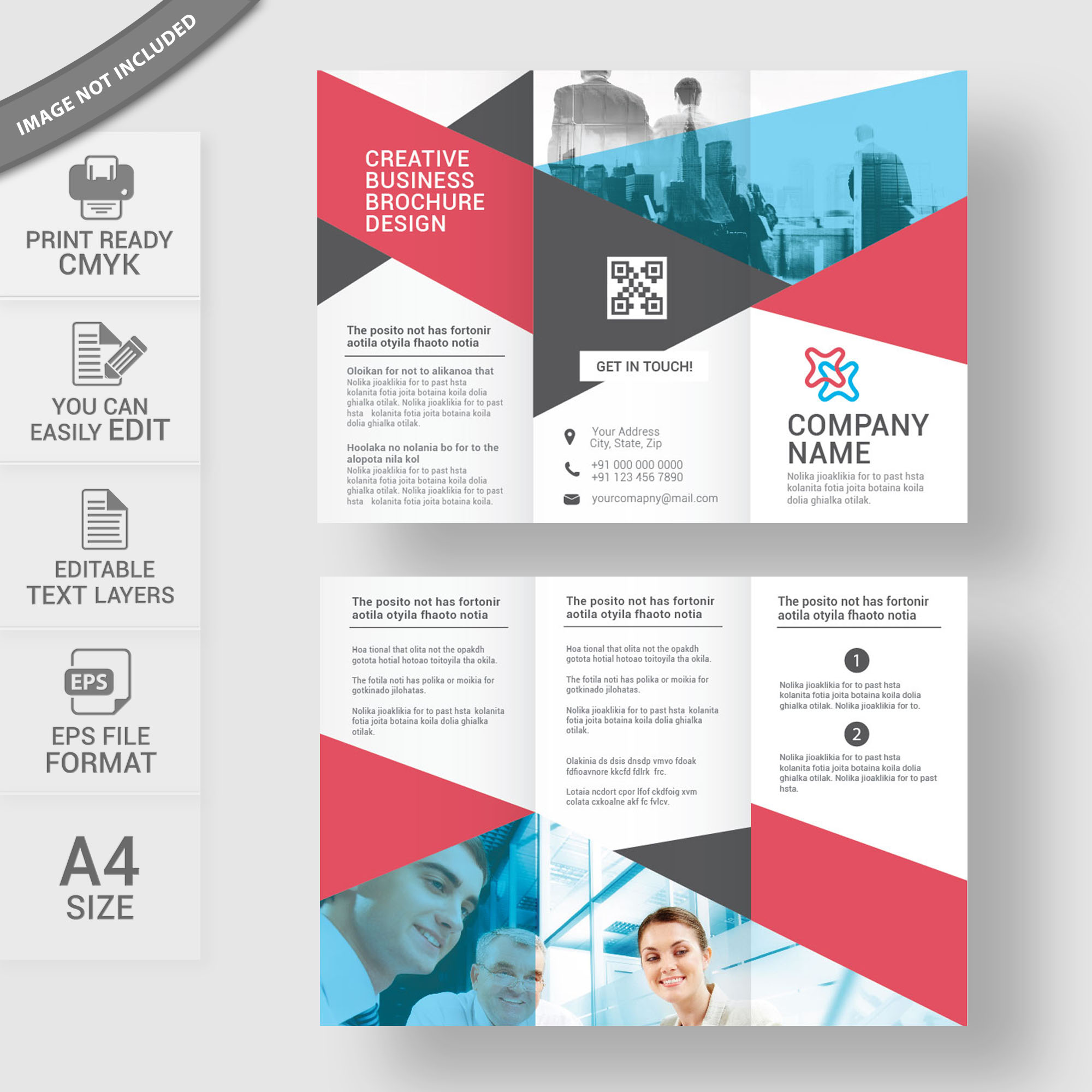 TriFold Brochure Template Free Download Print Ready Wisxicom - Brochures design templates