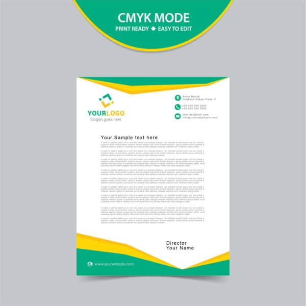 Free vector letterhead template