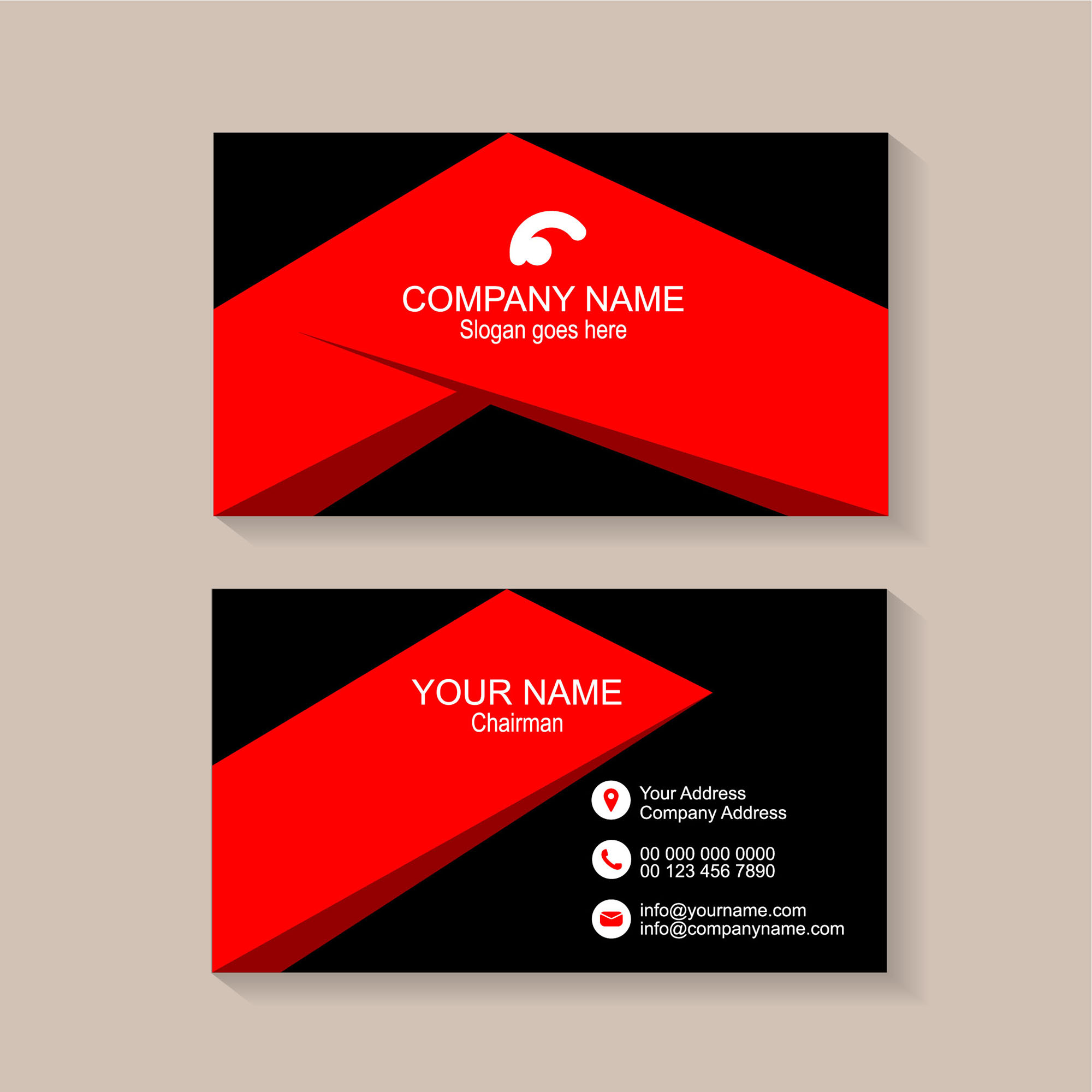 Business Card Template Design Free Download Wisxicom