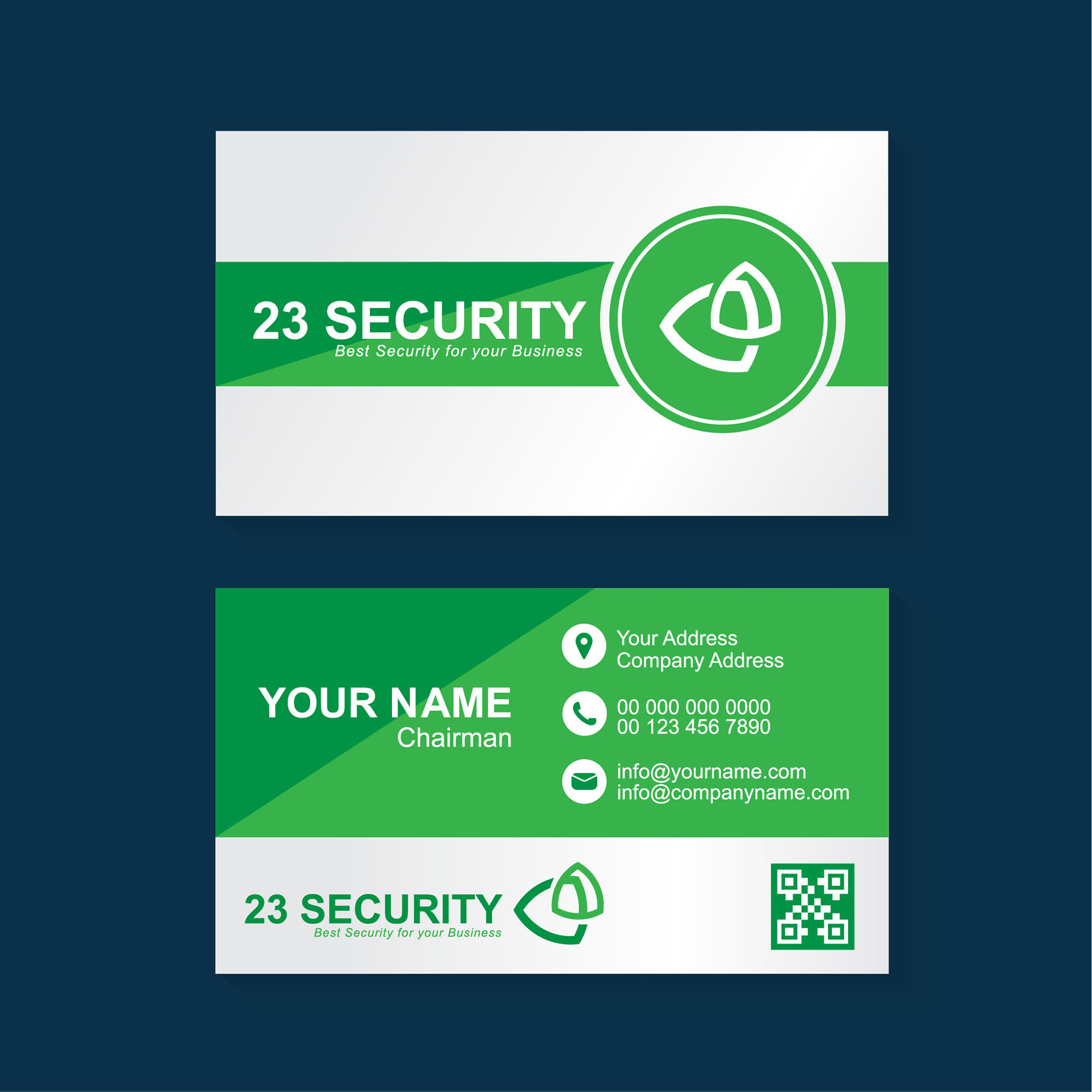 Security Business Card Template Free Download Wisxicom - Free modern logo templates