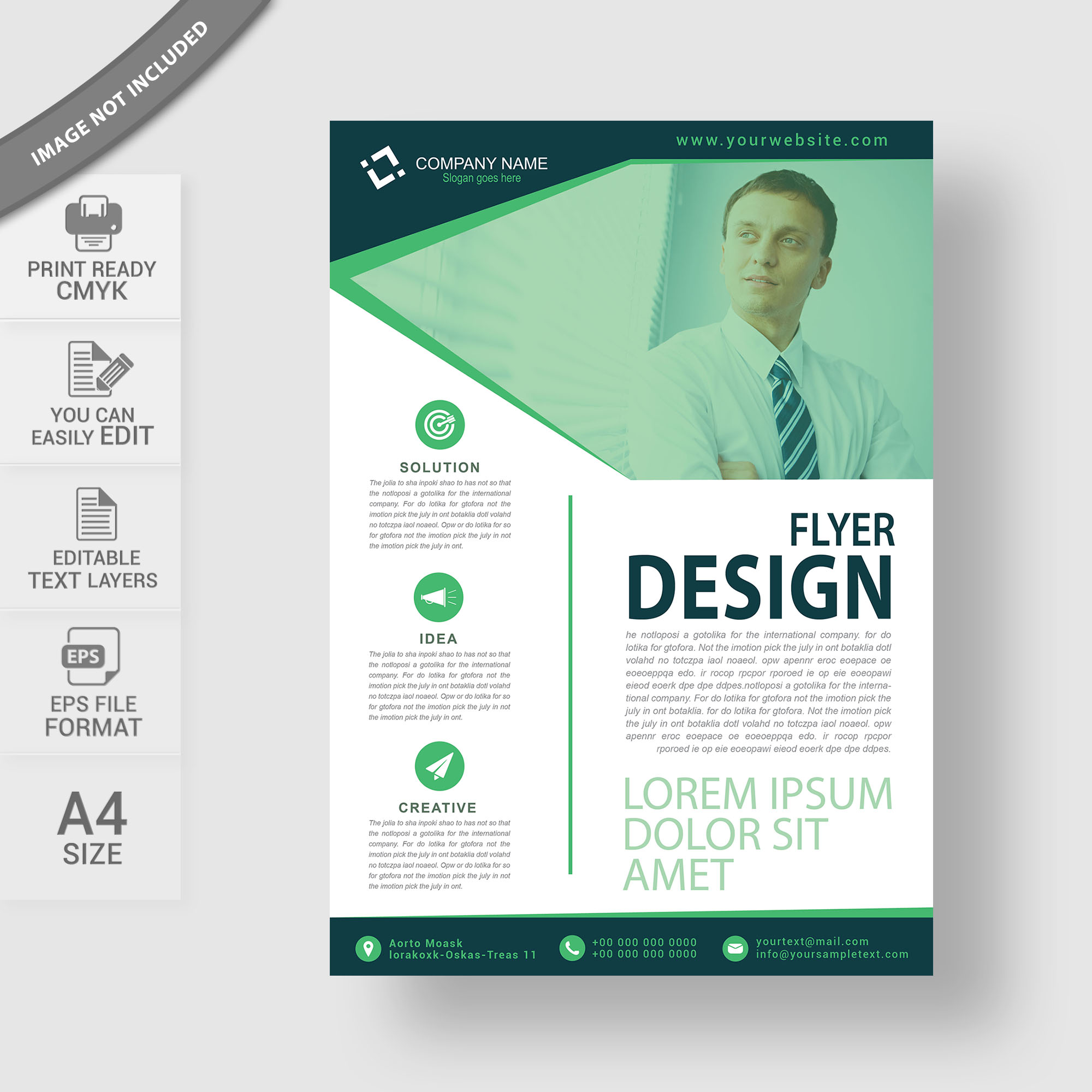 Professional business flyer design free download wisxi abstract business design modern presentation template company document friedricerecipe Images