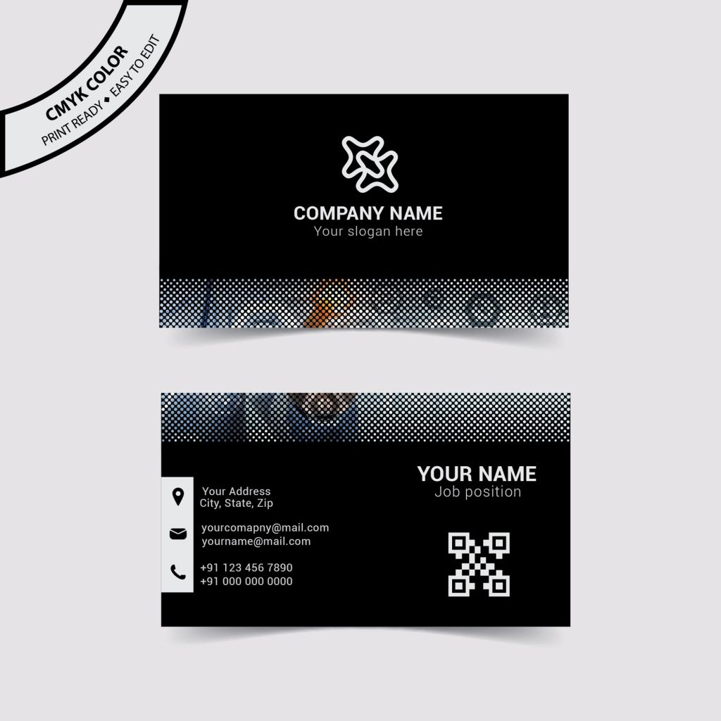 Black business card design free download wisxi abstract business card design business creative graphic layout template colourmoves Choice Image
