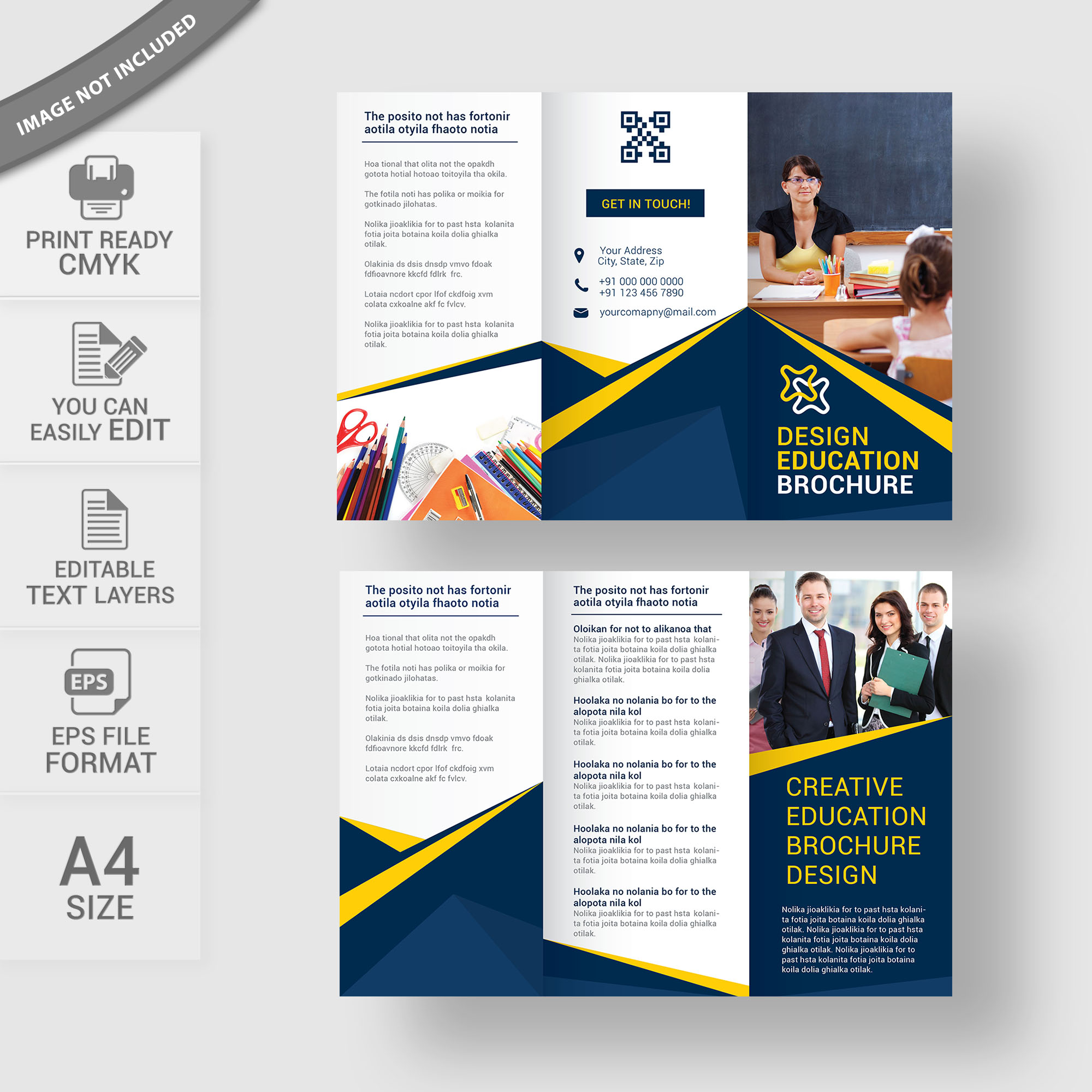 Education brochure template free download vector for Education brochure template