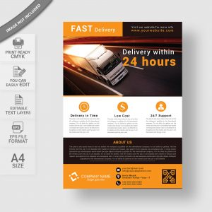 Delivery flyer design