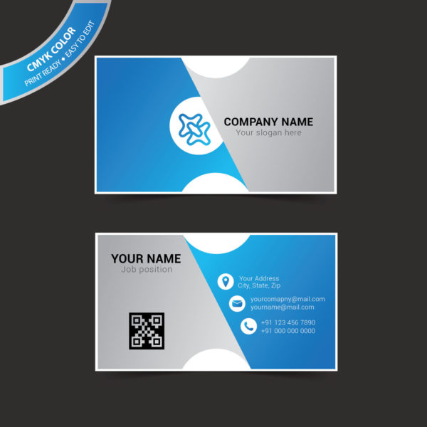 Business card template illustrator free vector wisxi flashek Images