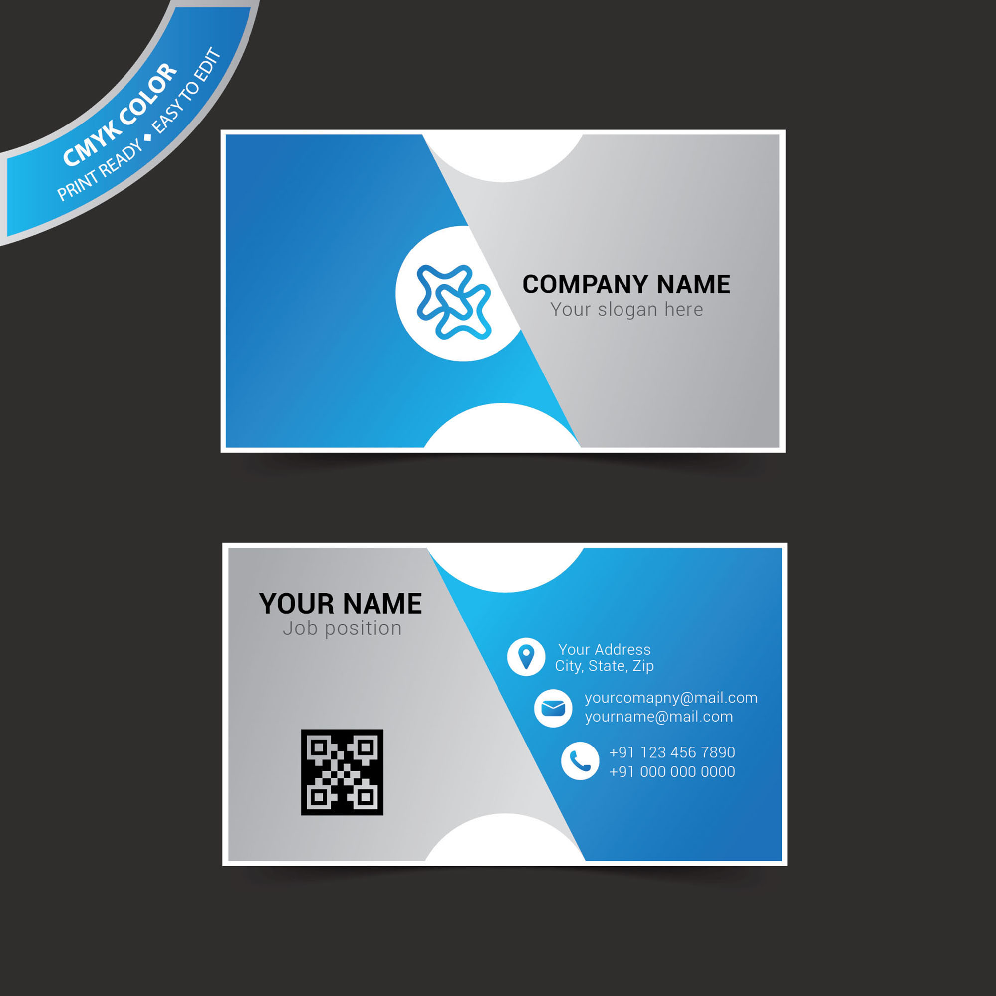 Abstract Business Card Design Creative Graphic Layout Template