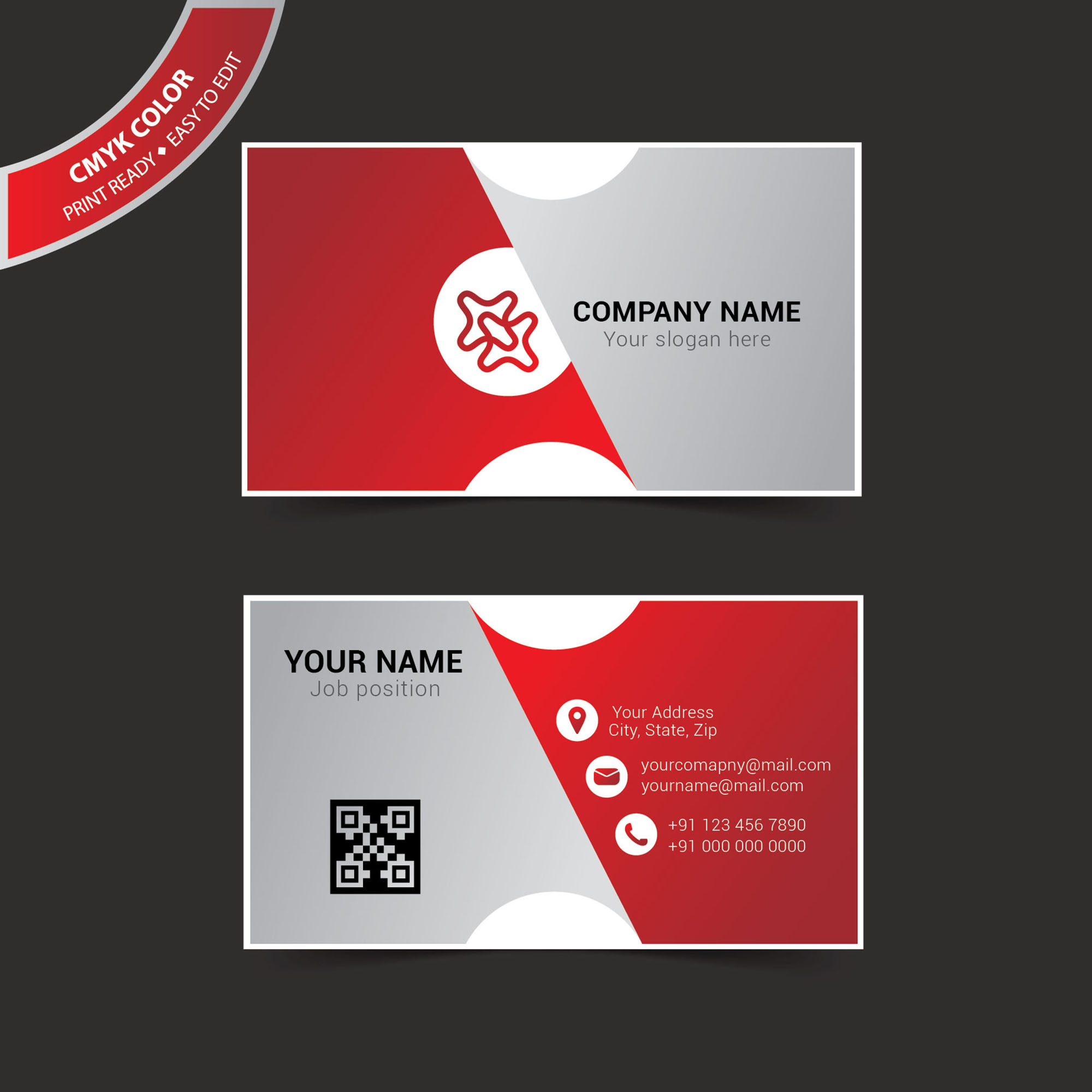 layout for business cards