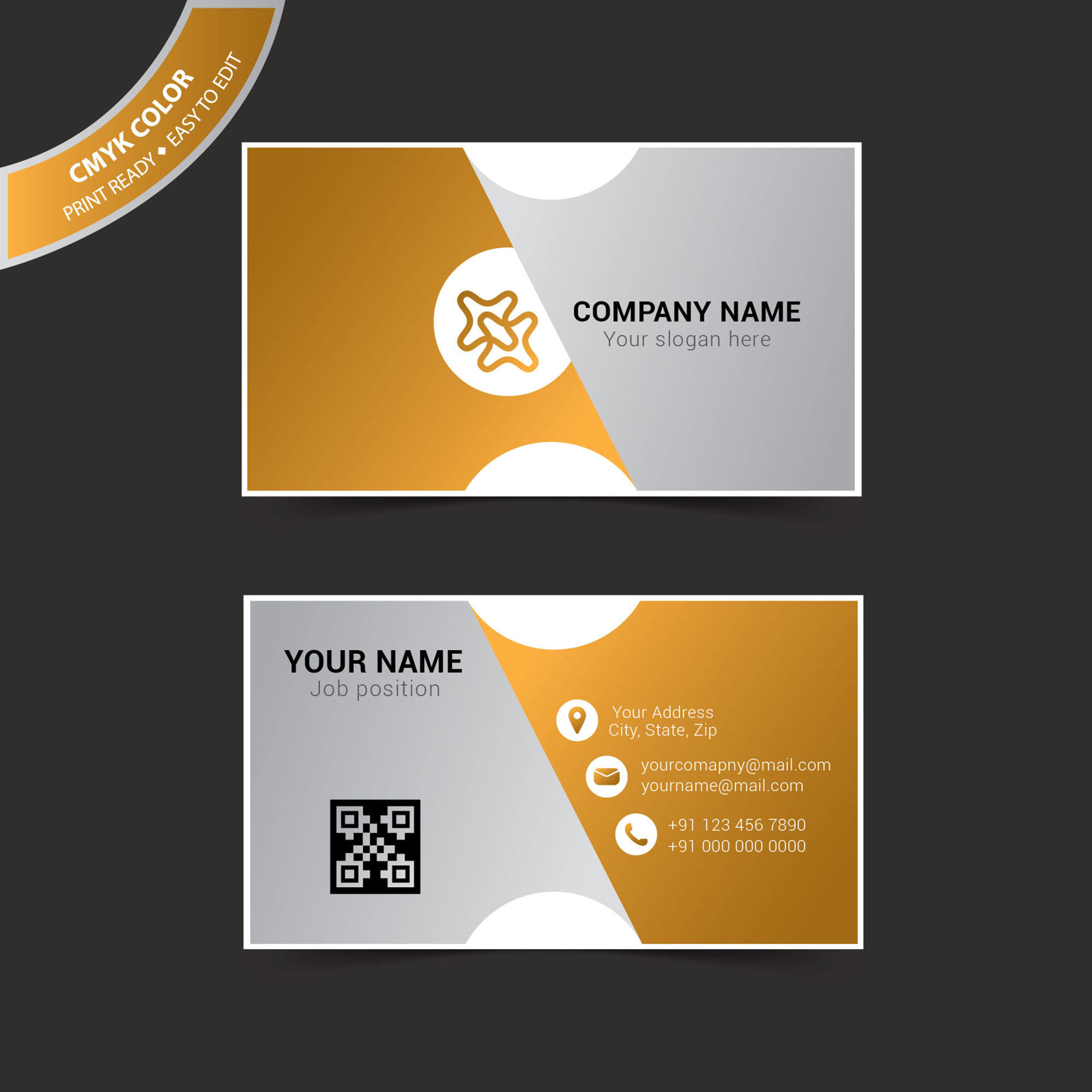 business card template illustrator free vector. Black Bedroom Furniture Sets. Home Design Ideas