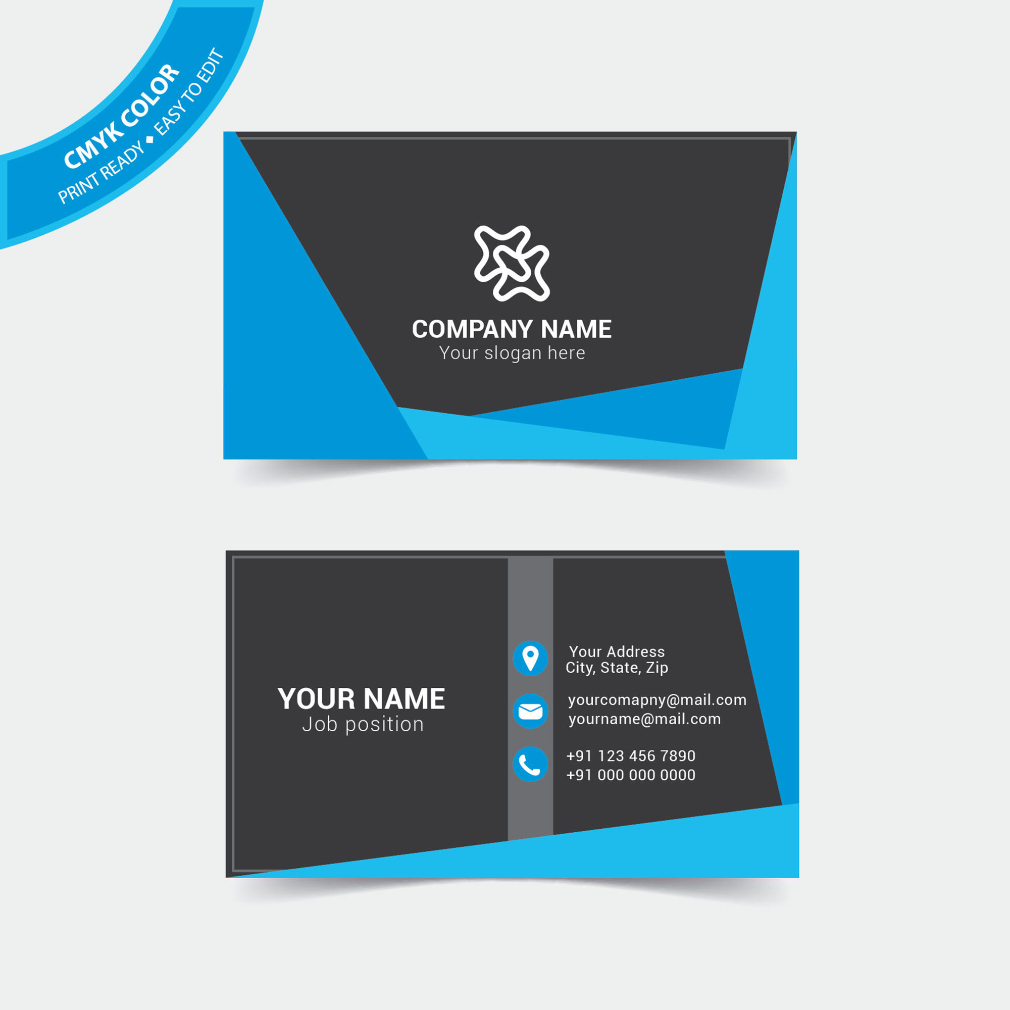 Modern business visiting card design free download wisxi abstract business card design business creative graphic layout template accmission Image collections