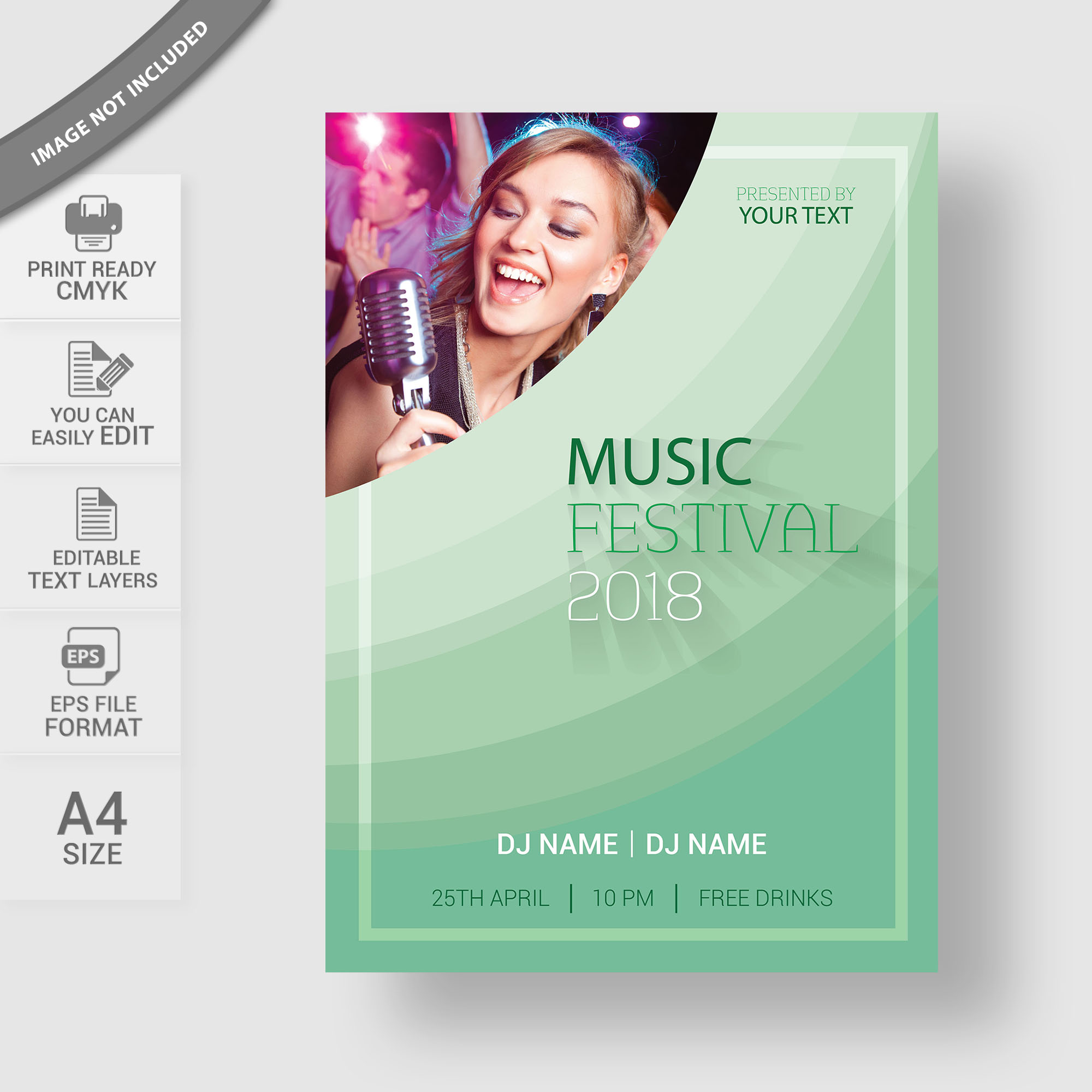 Music Flyer Template Design Free Download Wisxi