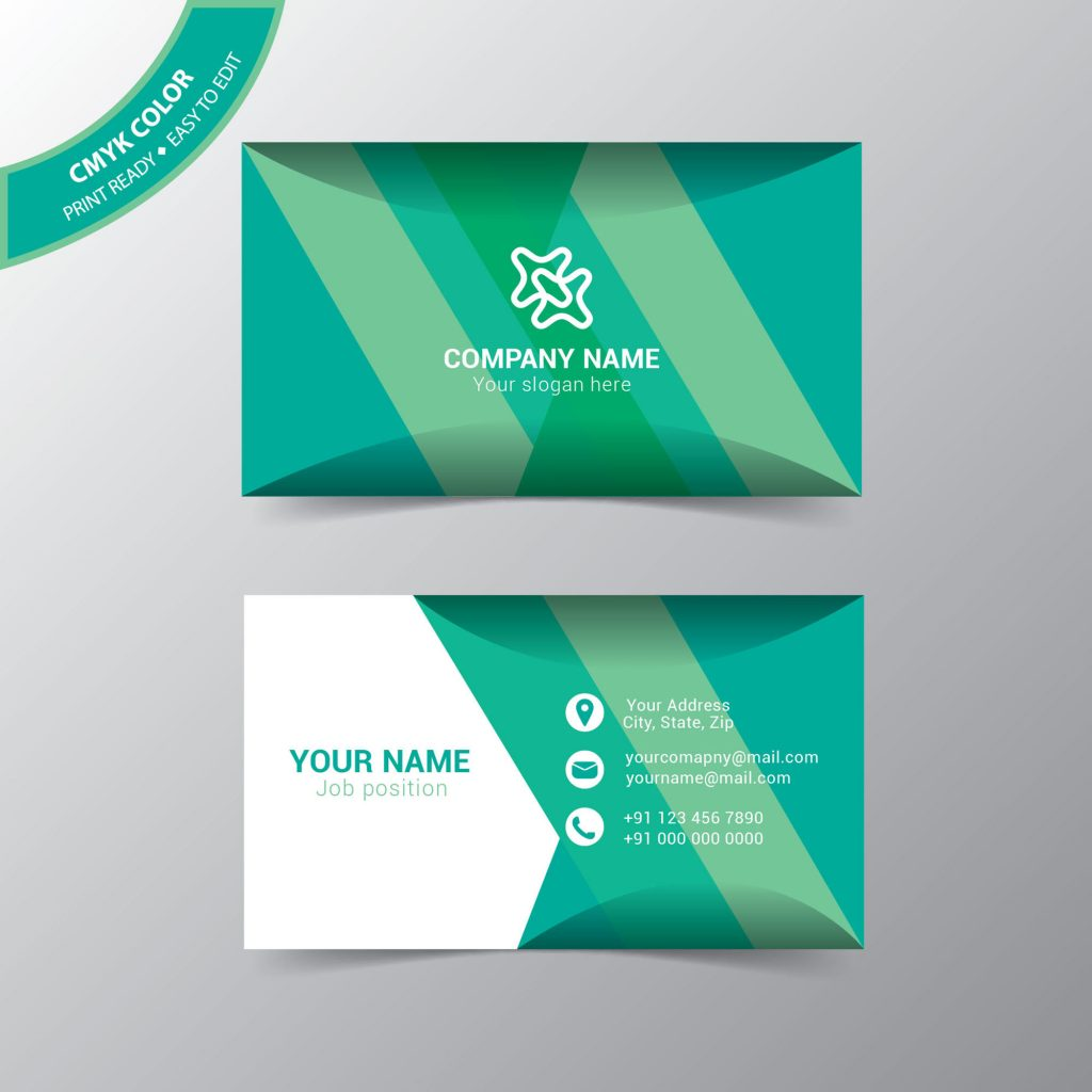 Vector Modern Business Card Template Free Download Wisxicom - Graphic design business cards templates