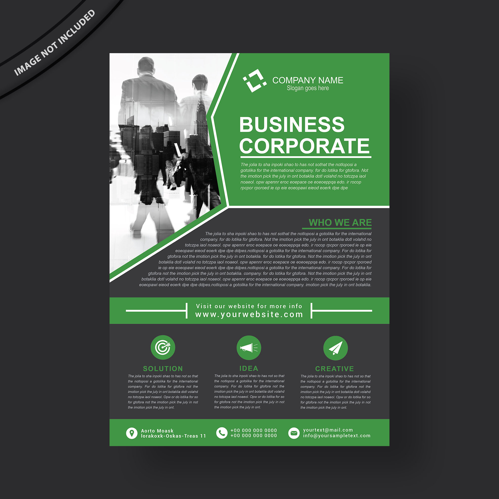Multipurpose Business Flyer Template Free Download - Wisxi.com