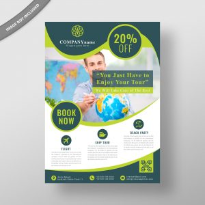 travel, flyer, design, template, vector